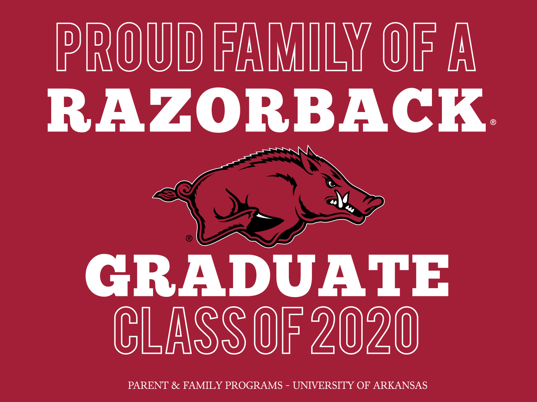 Hog Grad yardsign